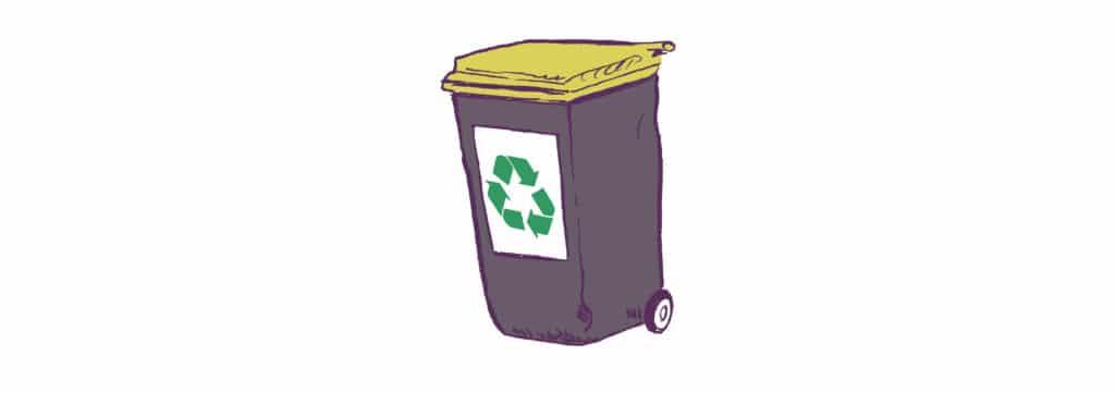 recyclable illustration poubelle jaune